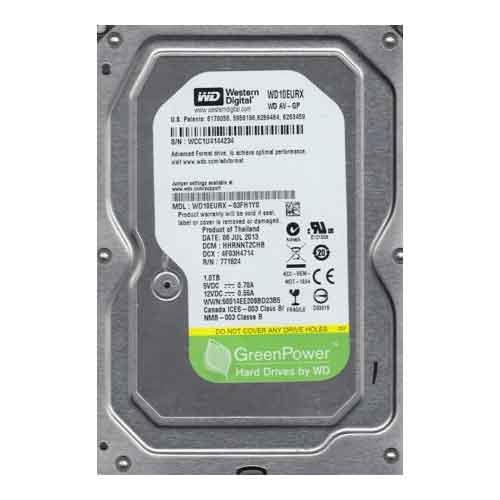 هارد دیسک اینترنالPC وسترن دیجیتال سری سبز ظرفیت 1