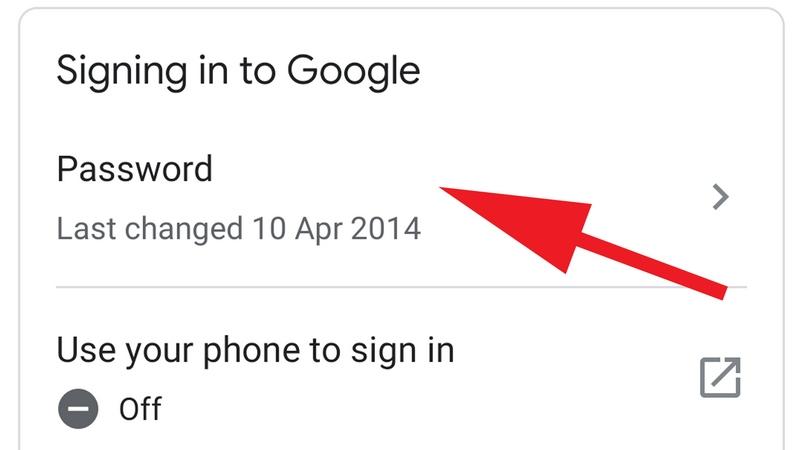 گذرواژه ی فراموش شده ی حساب گوگل