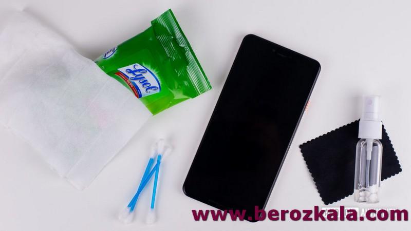 تمیز کردن تلفن همراه
