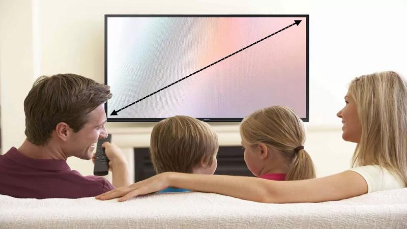 اندازه تلویزیون