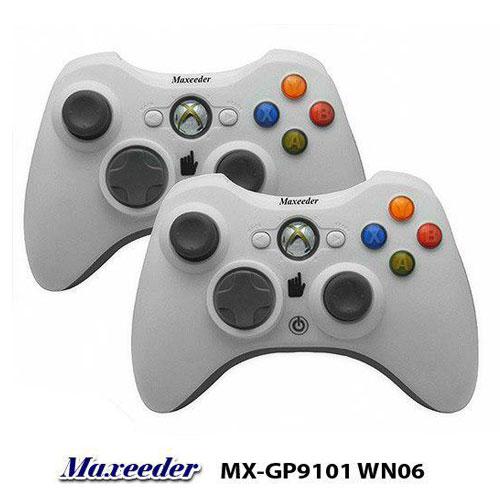 دسته بازی کامپیوتری مکسیدر دوبل بدون لرزش شوک | Maxeeder PC JoyStick MX-GP9101 WN06