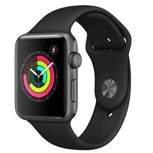 ساعت هوشمند اپل واچ 3 مدل 42mm Space Gray Aluminum Case with Black Sport Band | Apple Watch Series 3 GPS 42mm Space Gray Aluminum